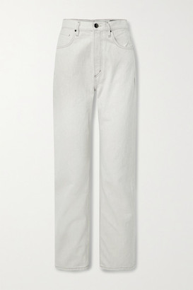 Gold Sign The Martin High-rise Straight-leg Jeans - Off-white