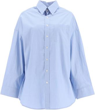 R 13 OXFORD OVERSIZED SHIRT M Light blue Cotton