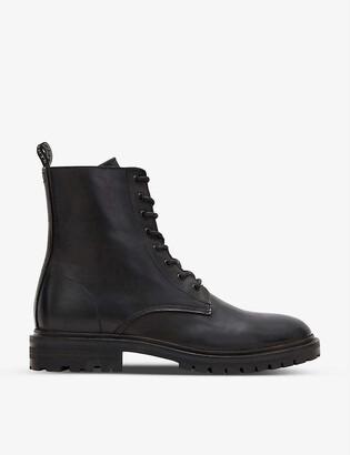 AllSaints Tobias lace-up leather ankle boots