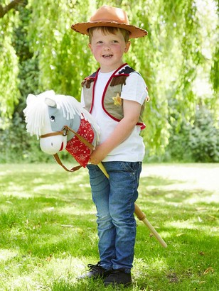 Travis Designs Cowboy With Hobby Horse Children's Costume, 3-7 years