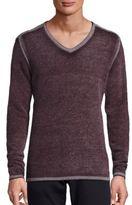 John Varvatos Reverse Print Merino Wool Blend Sweater