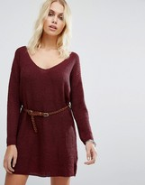 Goldie No Other Way Knitted Sweater Dress With Belt