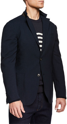 Ermenegildo Zegna Men's Wool/Linen Seersucker Two-Button Blazer