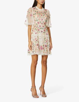 Needle And Thread Trellis sequin-embellished woven mini dress
