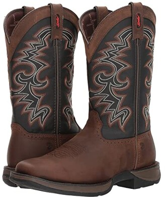 Durango Rebel 12 Western Square Toe (Chocolate/Midnight) Cowboy Boots
