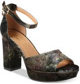 Nanette Lepore Nanette by Viola Two-Piece Platform Block-Heel Sandals