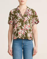 French Connection Floriana Short Sleeve Camp Sport Shirt