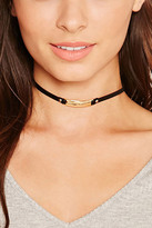 Forever 21 FOREVER 21+ Bar Charm Faux Leather Choker