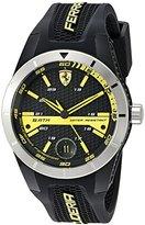 Ferrari Men's 0830277 REDREV T Analog Display Quartz Black Watch