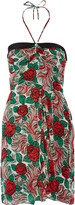 Anna Sui Printed silk-chiffon mini dress