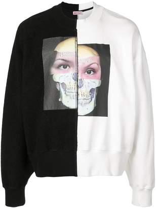 Palm Angels graphic skull print sweatshirt