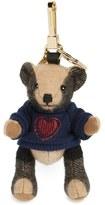 Burberry 'Thomas Bear Heart Sweater' Check Cashmere Bag Charm