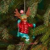 Bloomingdale's Glass Skiing Reindeer Ornament - 100% Exclusive