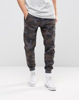 Pull&bear Skinny Joggers In Blue Camo