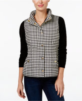 Charter Club Petite Houndstooth Quilted Vest, Only at Macy's