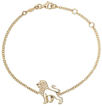 Kiki McDonough 18kt yellow gold Memories diamond lion bracelet