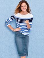 Talbots The Denim Pencil Skirt-Clear Sailing Wash