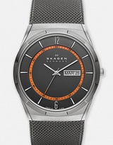Skagen Melbye Steel Mesh and Titanium Case Multifunction Watch