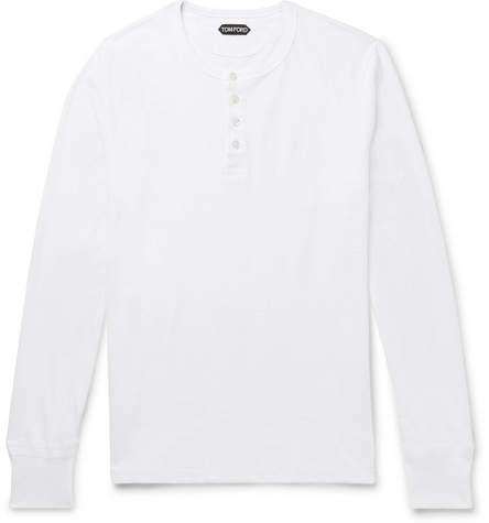 Tom Ford Slub Cotton-Jersey Henley T-Shirt