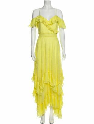 Alice + Olivia Square Neckline Long Dress Yellow