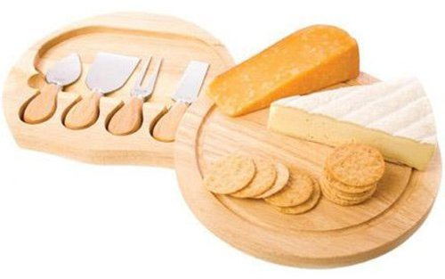 True Fabrications 5-pc. Round Cheese Board Set
