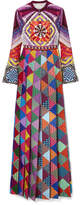 Mary Katrantzou Desmine Printed Crepe De Chine Maxi Dress - Purple