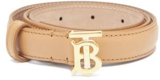 Burberry Tb-buckle Leather Belt - Nude