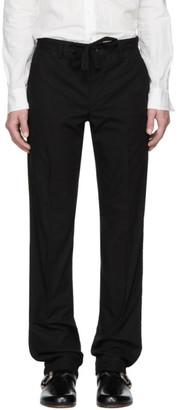 TAKAHIROMIYASHITA TheSoloist. Black Plain Front Work Trousers