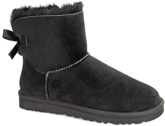 UGG Mini Bailey Bow II Fur-Lined Ankle Boots