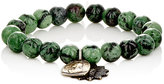 Miracle Icons Men's Ruby Zoisite Bead & Charm Bracelet