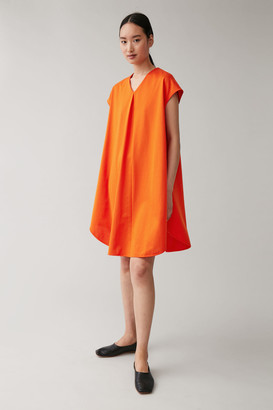 Cos Relaxed V-Neck Cotton Dress