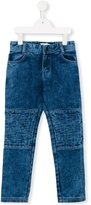 Little Marc Jacobs quilted panel jeans - kids - Cotton/Leather/Polyester/Viscose - 12 yrs