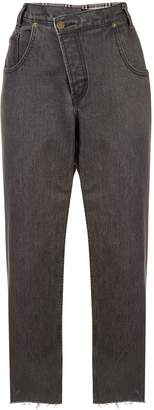 Monse panelled cropped trousers