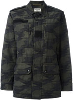 Saint Laurent camouflage military jacket - women - Cotton - 42