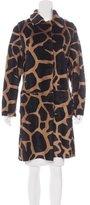 Philosophy di Alberta Ferretti Giraffe Print Ponyhair Coat