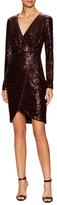 Rachel Roy Sequin Zip Sheath Dress