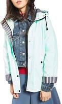 Topshop PETITE Hooded Rain Mac Coat