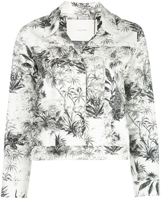 Adam Lippes Tropical Print Cropped Jacket