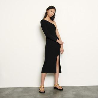Sandro Asymmetric knit dress