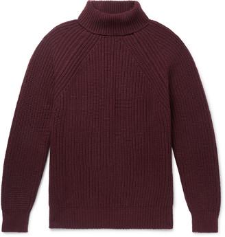 Anderson & Sheppard + Camoshita Ribbed Merino Wool Rollneck Sweater