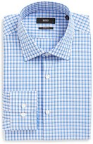 BOSS Sharp Fit Plaid Dress Shirt