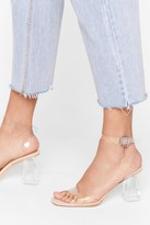 Nasty Gal Womens It's All Clear Now Faux Leather Heels - beige - 4