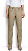Lands' End Women's Regular Plain Straight Leg Chino Pants-True Navy
