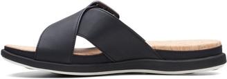 Clarks Step June Shell Flat Sandal - Black