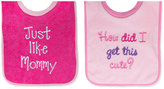 First Impressions Baby Girls' 2-Pack Pullover Bibs
