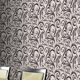 Graham & Brown 56 sq. ft. Swurly Wurly Black Wallpaper