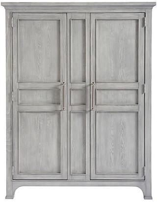 One Kings Lane Chatham Armoire - Gray - frame, gray; hardware, pewter