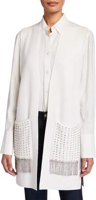 Kobi Halperin Ashton Sweater Vest with Stud Embellished Pockets