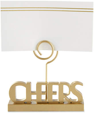 Kate Aspen Set Of Cheers To You Gold Place Card Holders