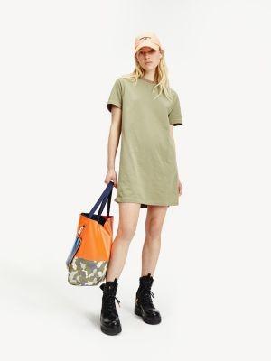 Tommy Hilfiger Organic Cotton Logo Neck T-Shirt Dress